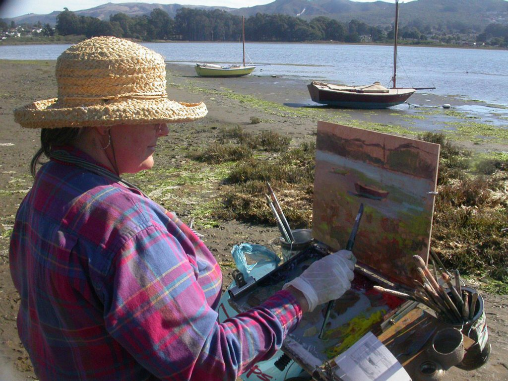 Bonnita Budysz painting by the water